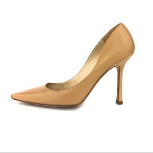 Jimmy Choo nude heels tan beige 37.5/7